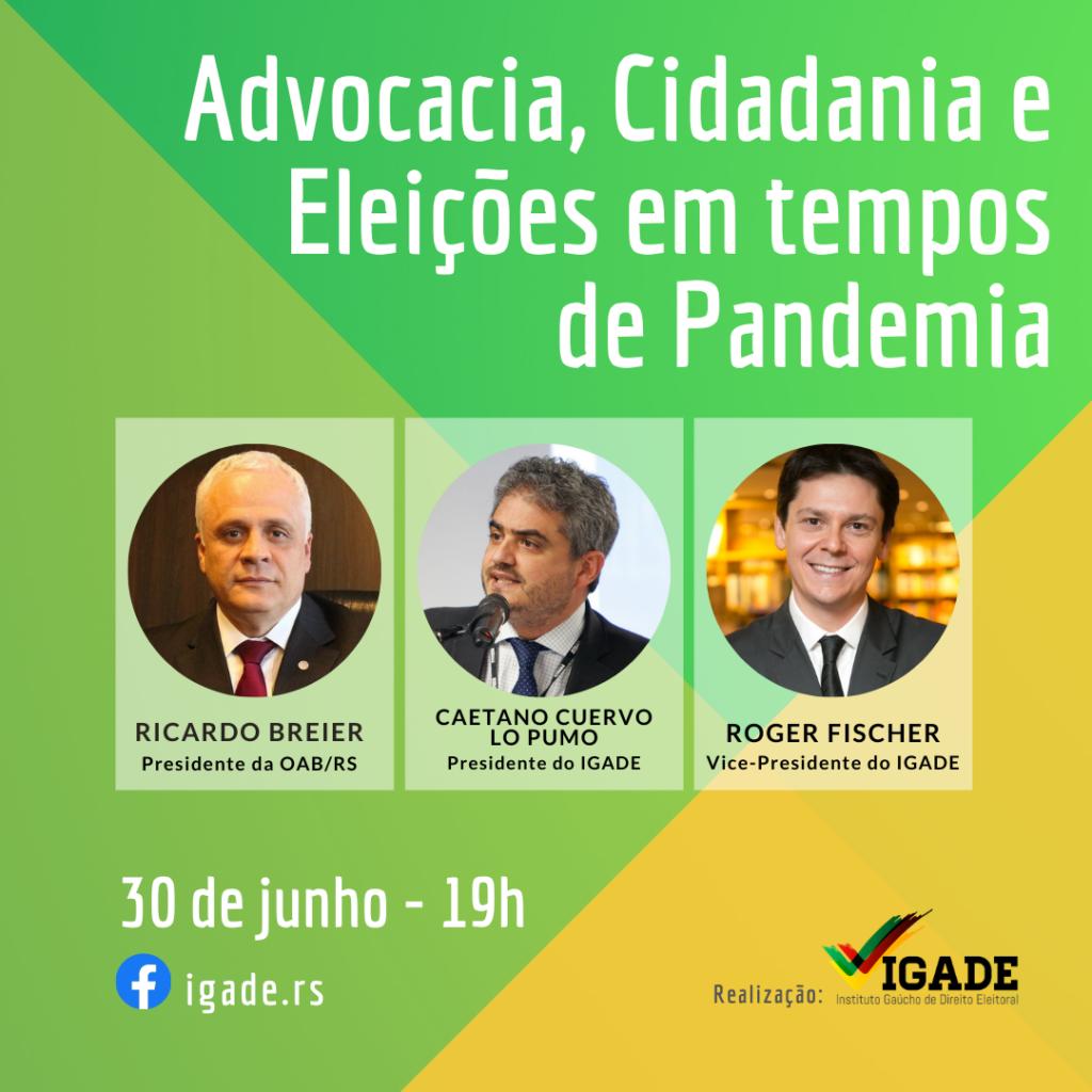 Advocacia, Cidadania e Eleições em tempos de Pandemia